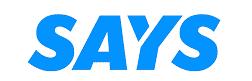 says logo